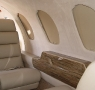 upholstered seats on private plane