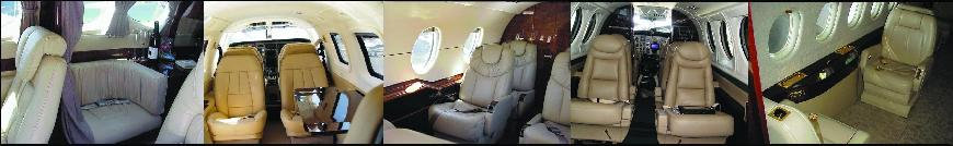 customized charter plane interior